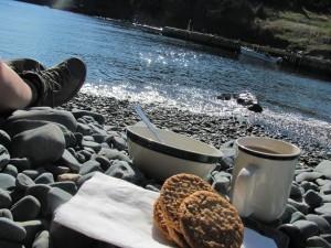 Seaside breakfast.