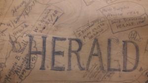 Old Herald desk.