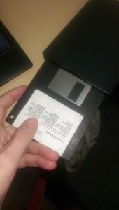 floppy disc.