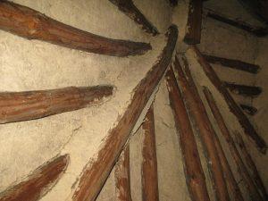 Hanok ceiling.