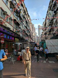 Temple Street night market, Kowloon.
