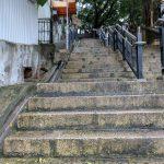 Stairs, so many stairs near Hollywood Road, Hong Kong.