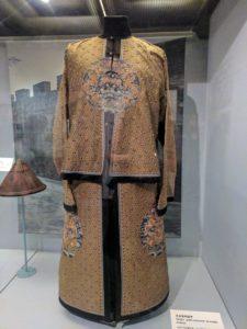 Gold brocade Qing armour.