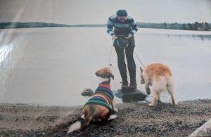 Me, Ali and Kola in the Annapolis Valley, Nova Scotia, 2009.