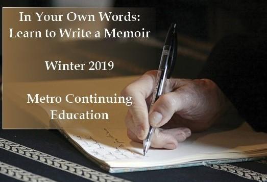 Memoir writing workshop. Winter 2019.